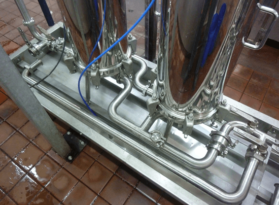 custom pipework for filter housings