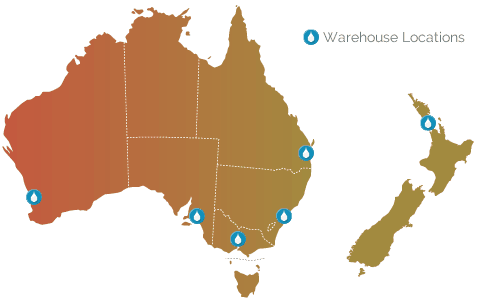 warehouse locations australia and new zealand