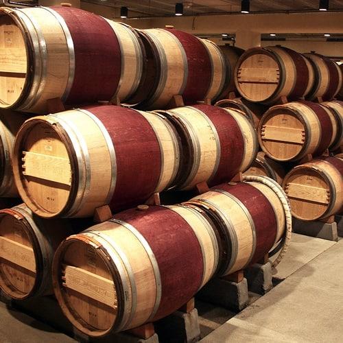 maturation of wine oak barrels New Zealand winery