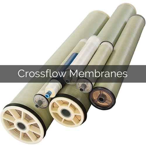 Crossflow membranes industrial water treatment