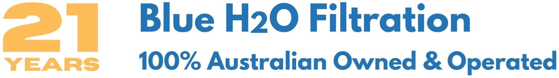 blue h2o filtration 21 years australian owned and operated